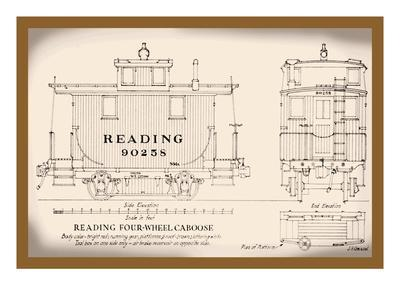Reading Four-Wheel Caboose