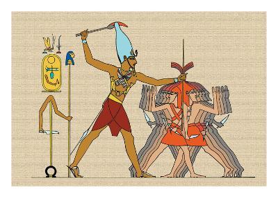 Taharka Conquering the Assyrians