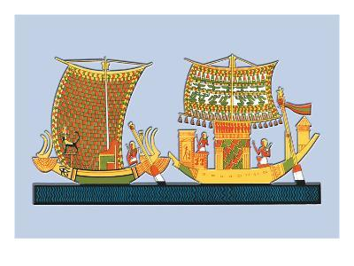 Boats from the Tomb of Ramses III at Thebes