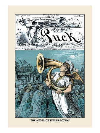 Puck Magazine: The Angel of Resurrection
