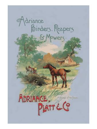 Adriance Binders, Reapers and Mowers