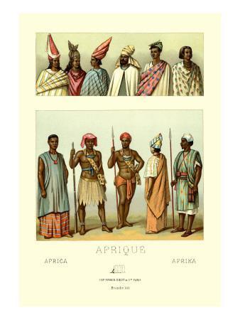 Tribe Members in Headdress and Full Costume