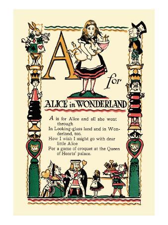 A for Alice in Wonderland
