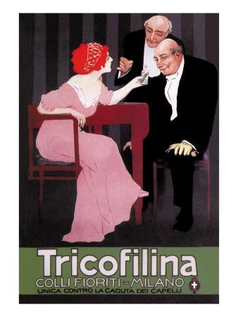 Advertisement for Tricofillina Headache Medicine