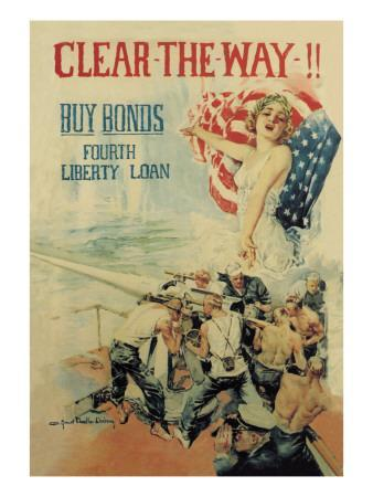Clear the Way! Buy Bonds, Fourth Liberty Loan