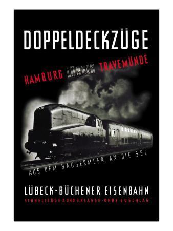 Doppeldeckzuge: Hamburg, Lubek, Travemunde