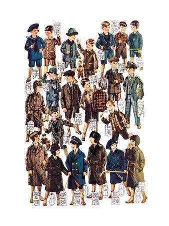Little Boys Modeling Garments