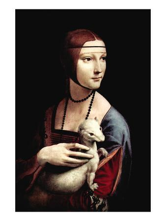 Portrait of a Lady with An Ermine
