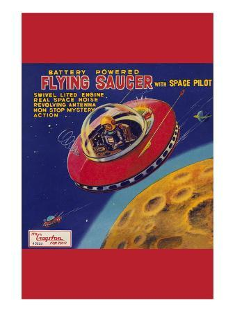 Battery Operated Flying Saucer