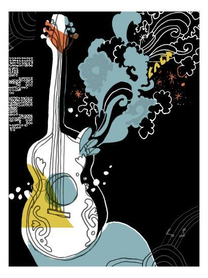 guitar wall decor.htm psychedelic guitar wall decal at allposters com  guitar wall decal at allposters com