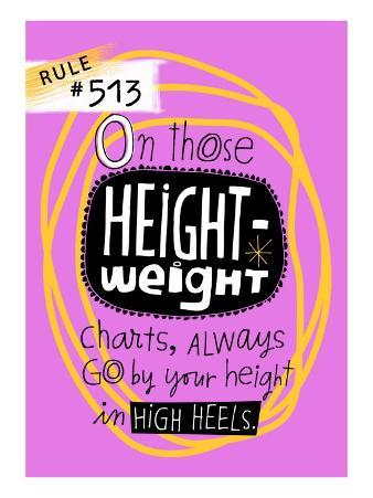 Height and Weight Rule