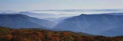 Fog over Hills, Dolly Sods Wilderness, Monongahela National Forest, West Virginia, USA