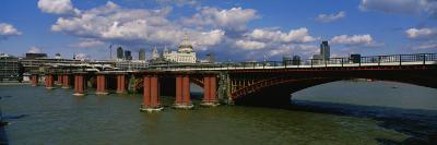 Bridge Across the River, Blackfriars Bridge, St. Paul's Cathedral, London, England