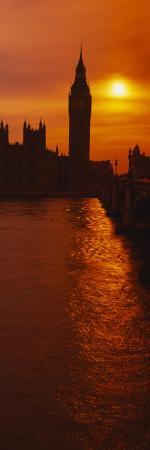 Big Ben at Sunset, House of Parliament, London, England
