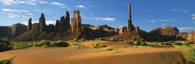 Rock Formations in Totem Pole Rock, Yei Bi Chei, Monument Valley Tribal Park, Arizona, USA