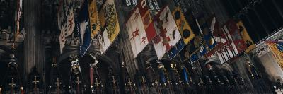 Banners Hanging in Westminster Abbey, Westminster, London, England