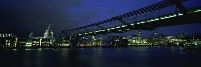 Bridge Across a River, Millennium Bridge, Thames River, London, England