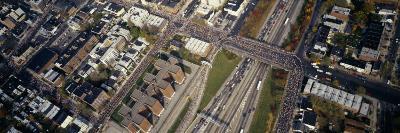 Aerial View of New York City Marathon, New York City, New York, USA