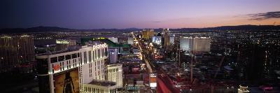 Aerial View of a City, Paris Las Vegas, the Las Vegas Strip, Las Vegas, Nevada, USA
