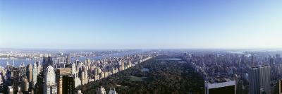 Aerial View of Manhattan, New York City, New York State, USA