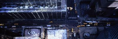 Aerial View of Vehicles on the Road in New York City
