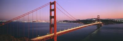 Night Golden Gate Bridge San Francisco Ca, USA