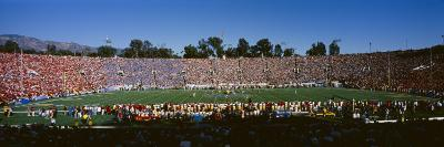 High Angle View of Spectators in a Stadium, Rose Bowl Stadium, Pasadena, Los Angeles County