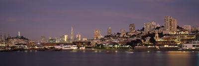 Sea with a City in the Background, Coit Tower, Ghirardelli Square, San Francisco, California, USA