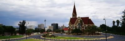 Trees in Front of a Church, Christuskirche, Windhoek, Khomas Region, Namibia
