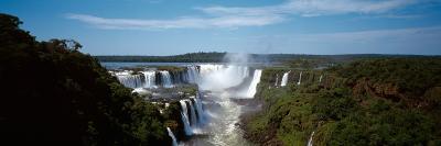Waterfall in a Forest, Iguacu Falls, Iguacu River, Iguacu National Park, Parana State, Brazil