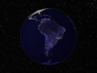 Earth Centered on South America