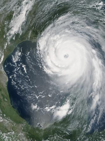 August 28, 2005, Hurricane Katrina Approaching the Gulf Coast