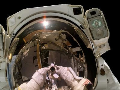 Astronaut STS-115 Mission Specialist, Took This Self-Portrait