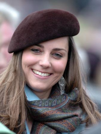 Kate Middleton in the Royal box at Cheltenham racecourse, March 16th 2007