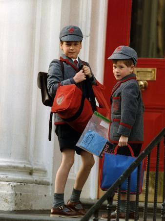 Prince William and Prince harry at their school after the easter holidays
