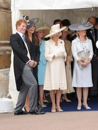 Members of the Royal Family attending the service for the Most Noble Order of the Garter at St Geor