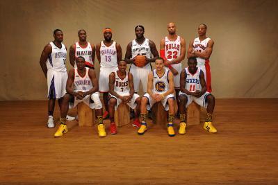 2011 NBA All Star: Tyreke Evans, Serge Ibaka, Wesley Matthews, James Harden, Brandon Jennings, DeJu