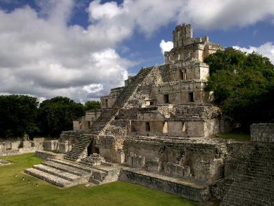 Ruins of Edificio De Cinco Pisos at Mayan Archaeological Site