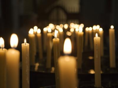 Candles Inside Cathedral Se Do Funchal