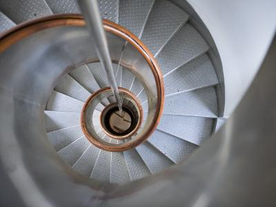 Staircase in Capelinhos Lighthouse