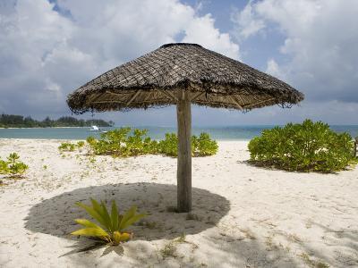 Sun Shade on Beach, Taj Denis Island Resort, Denis Island, Seychelle