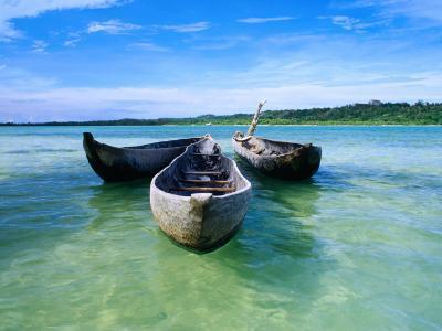 Pirogues (Dugout Canoe) in Nosy Nato, a Small Island Joined to Ile Sainte Marie (Nosy Boraha)