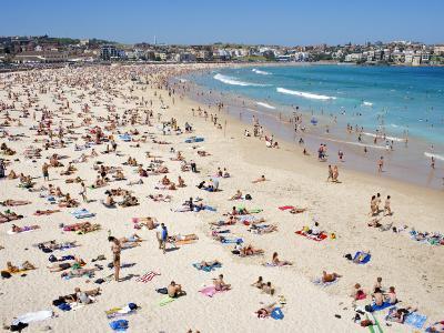 Summer Holiday Crowds on Bondi Beach