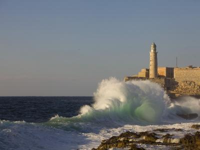 El Morro Castle and Pounding Waves on the Malecon