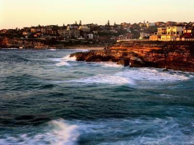Entrance to Tamarama Bay to Bronte and Nelson Bay, Sunrise