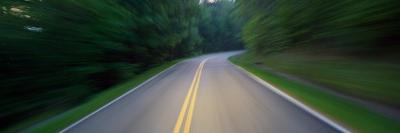 Road Winding Through Forest At Dusk,Great Smoky Mountains National Park, Tennessee