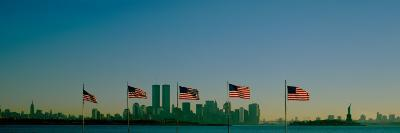 American Flags in a Row, New York City, New York