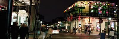 Illuminated Street at Night, French Quarter, New Orleans
