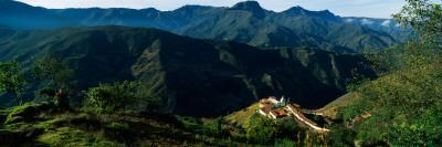 High Angle View of a Village, San Rafael De Mucuchies, Merida State, Andes, Venezuela
