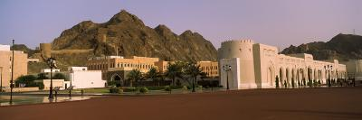 Palace With Mountain in The Background, Al Alam Royal Palace, Muscat, Oman
